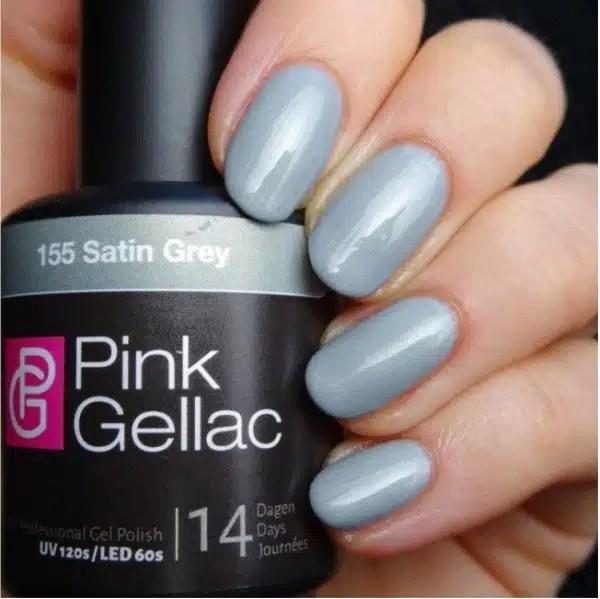 Profesionalus ilgalaikis gelinis lakas  Pink Gellac Satin Grey  15 ml