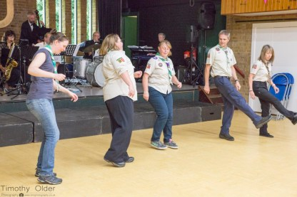 Scout Leaders Dancing