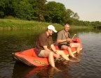 Schlauchboot-Tour kurz vor Grimma