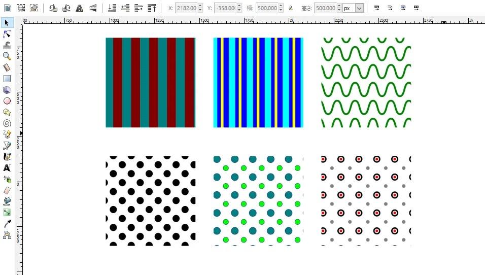 inkscapeでパターン素材を作るチュートリアル