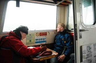 Der Passsagierraum bot gewissen Schutz vor dem eiskalten Wind