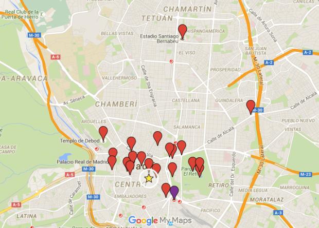 Metro e hospedagem em Madrid