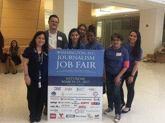 Members of the Washington Journalism Job Fair organizing groups
