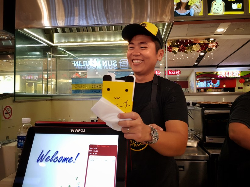 Thailand's Stretchy Hokkaido-Style Cheese Toast 'Say Chiizu' Has Arrived In Singapore! - Smiley Staff at Say Chiizu