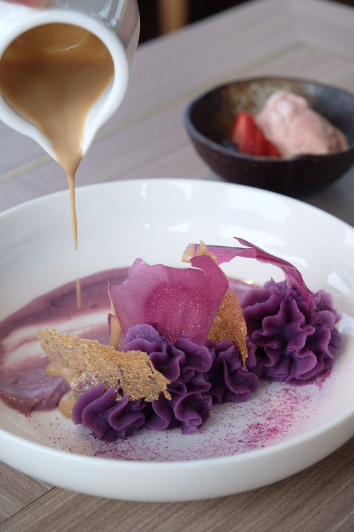 LeVeL33 Craft-Brewery Restaurant & Lounge - Purple Yam Mousse ($12)