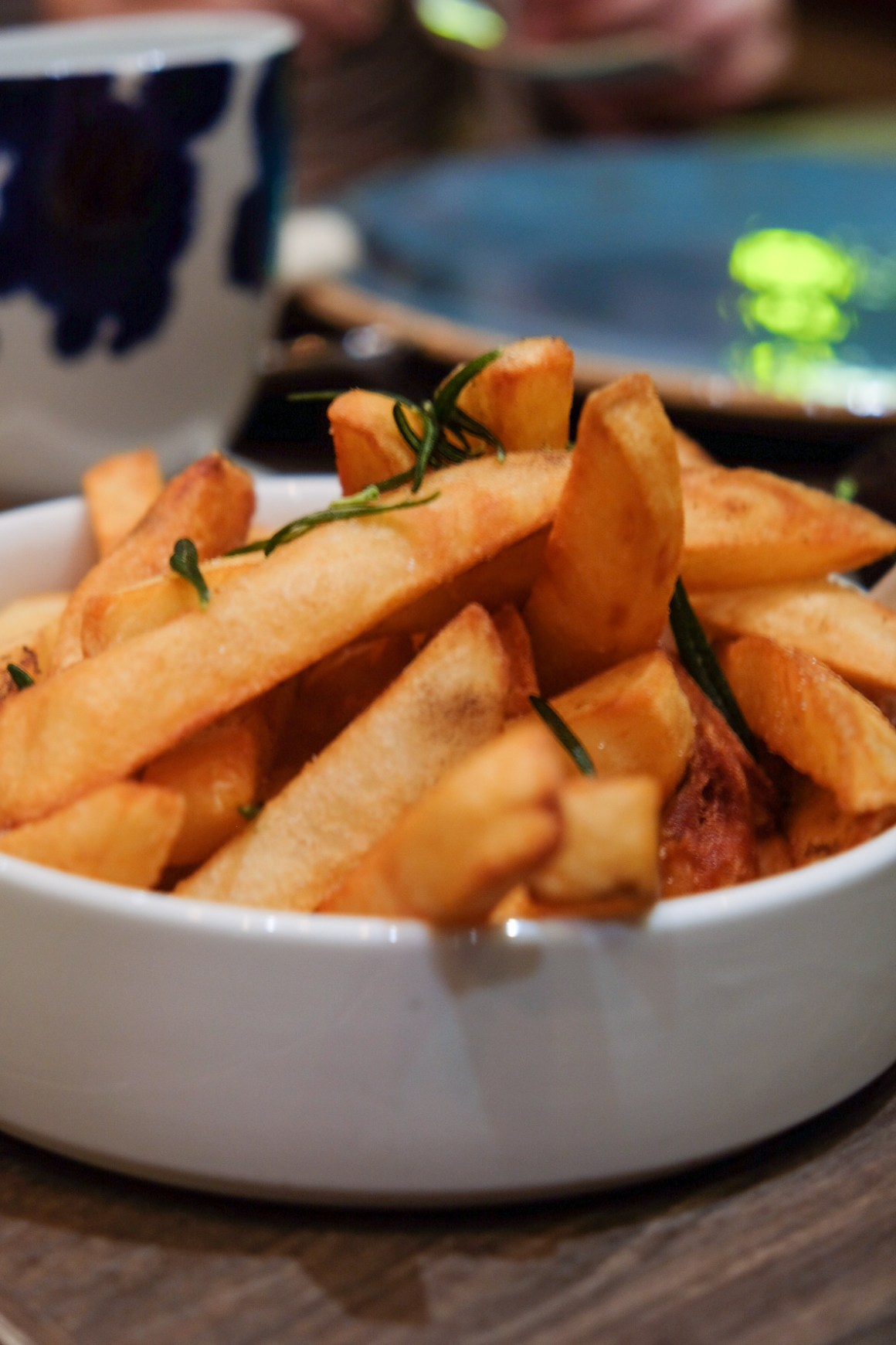 Hand Cut Fries with Rosemary and Truffe Mayo ($12)