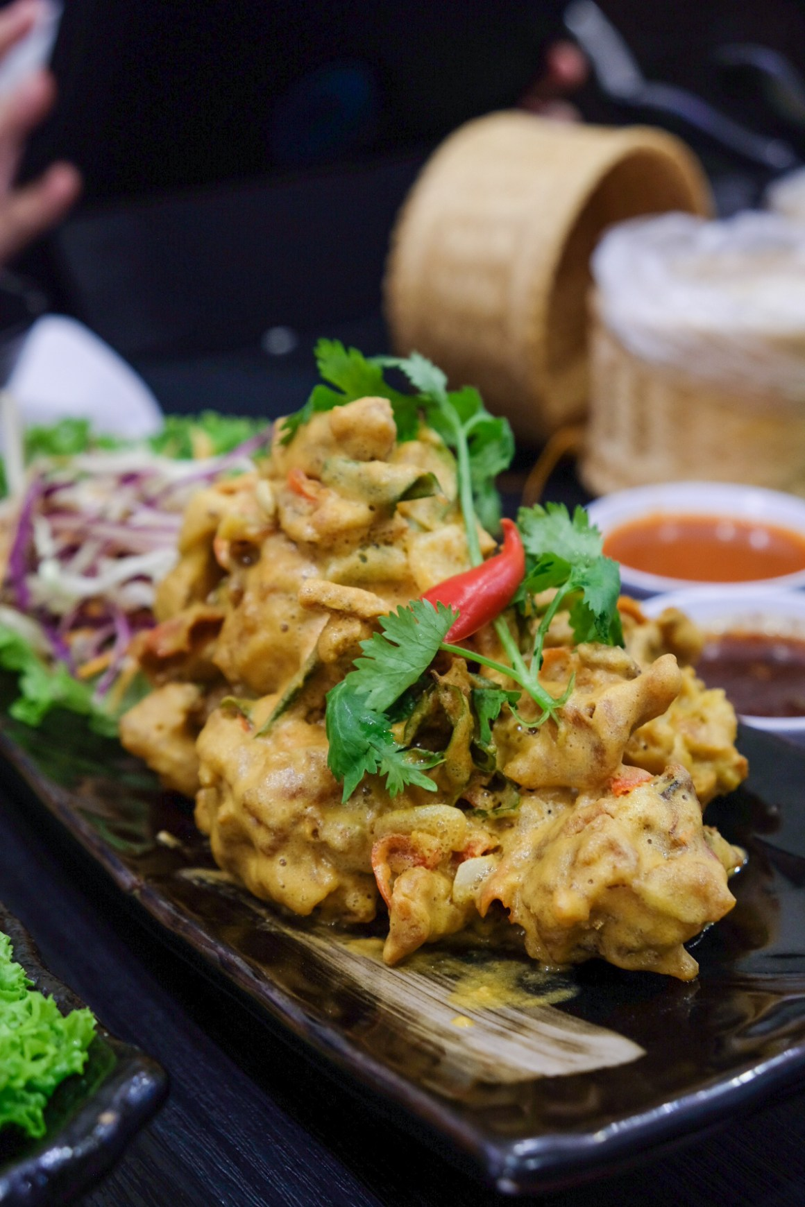 Noodle Thai Thai Serving Unusual Dishes At Beach Road - Soft-Shell Crab with Salted Egg