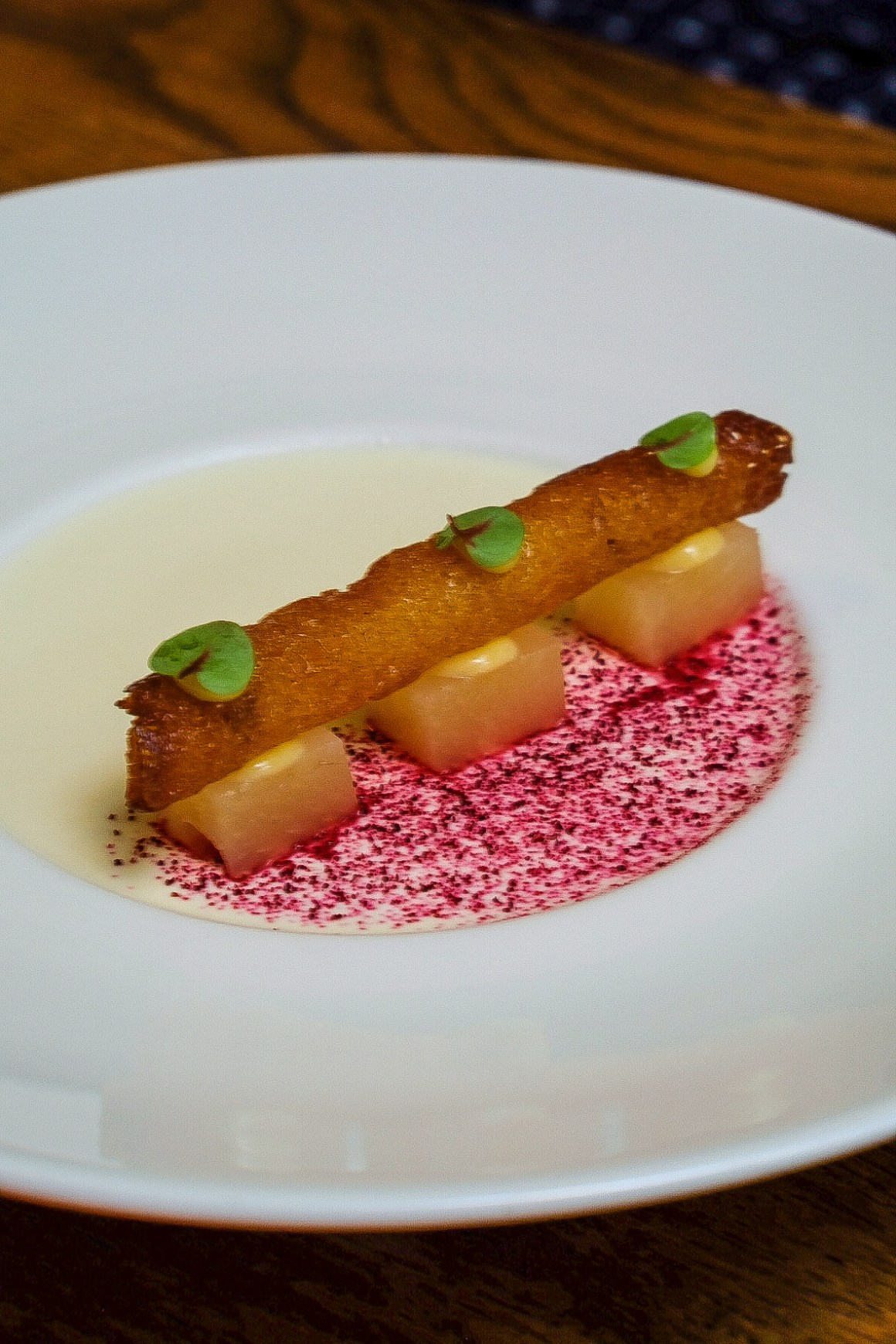 New Menu By Chef Mariana Campos D' Almeida At The Butcher's Wife - Lemongrass Panna Cotta,($13)