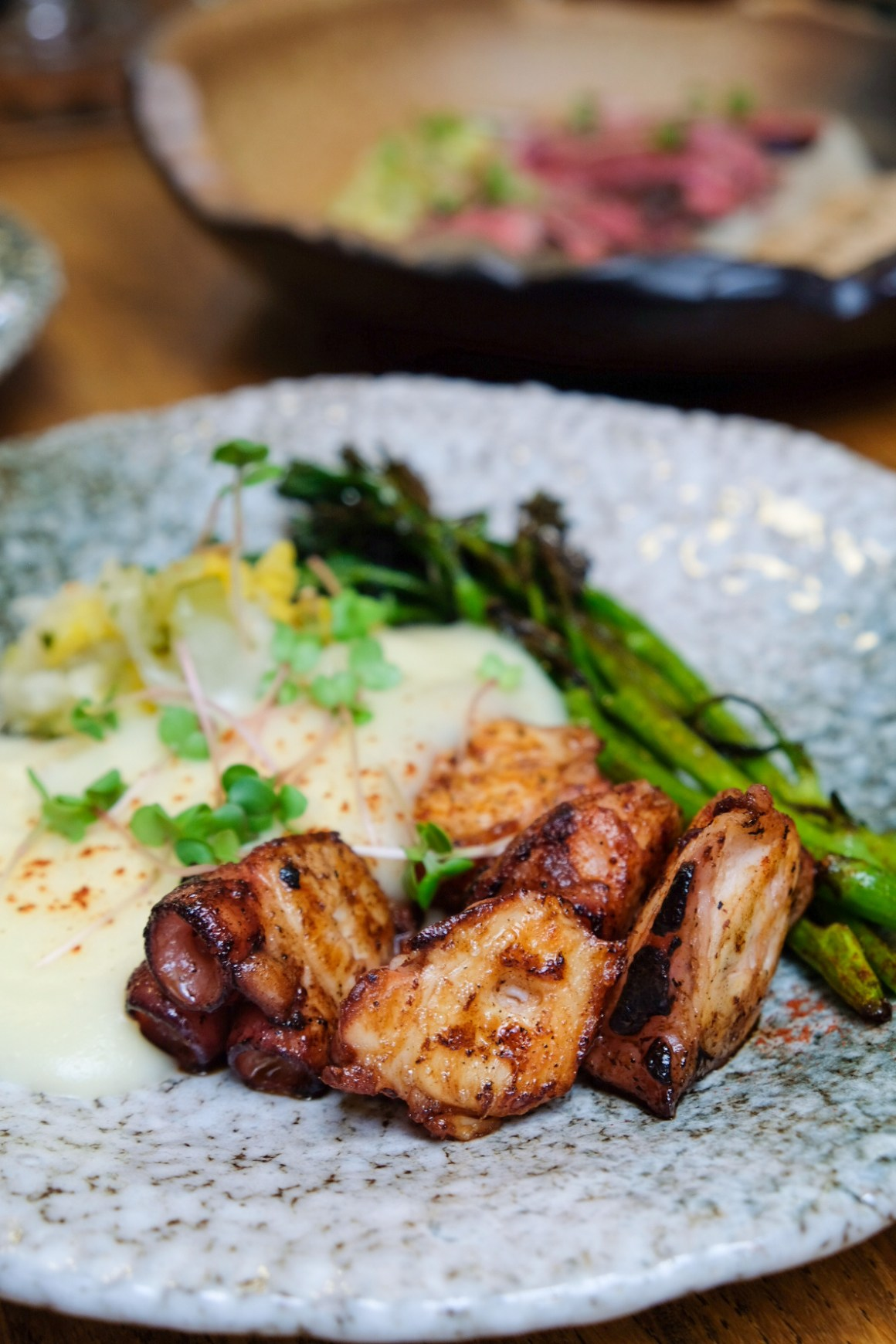 New Menu By Chef Mariana Campos D' Almeida At The Butcher's Wife - Grilled Octopus ($27)