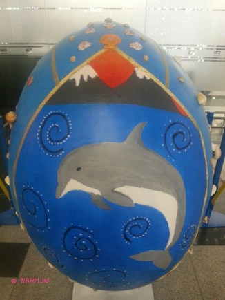 Egg Dolphin by the Beach