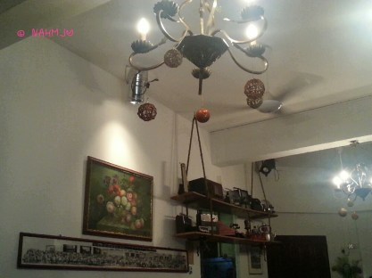 Ornaments decorated dining room