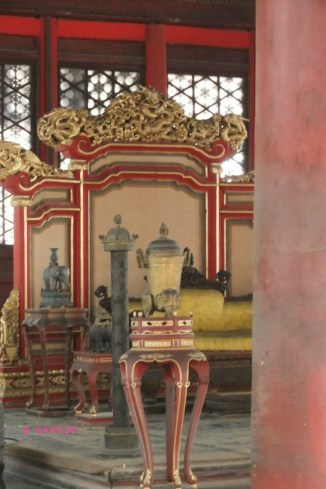 Interior of Hall of Central Harmony (中和殿)