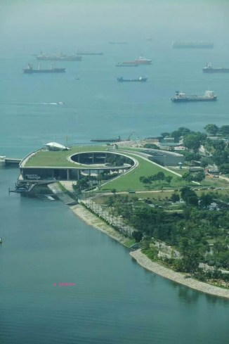 A view from the flyer, Marina Barrage