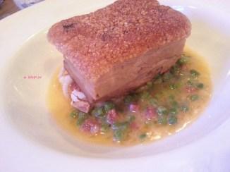 Oxwell & Co - Crisp Pork Belly, Squid, Thai Basil, Chorizo and Pea Emulsion