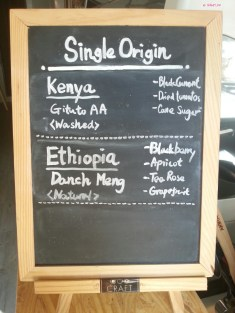 Beans Menu in Craft Coffee Roasters