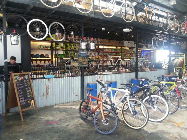 Bicycles and Drinks Counter