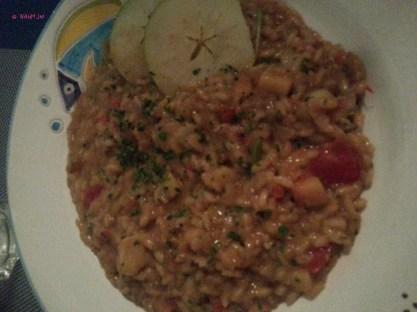 RISOTTO ALLA SICILIANA CON ASTICE, ASPARAGI, MELE VERDI (Sicilian style risotto with lobster, asparagus, green apples)