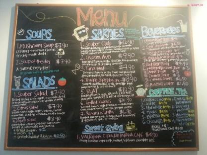 Souper Sarnies Menu Board for Food and Drinks