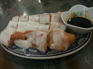 Fried Dough Wrapped In Rice Roll