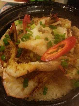 Glass Noodle with Prawn Claypot Rice