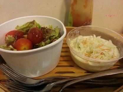 Garden Salad and Coleslaw