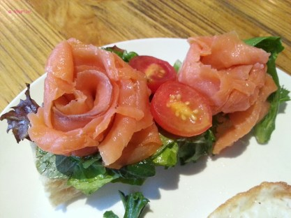 Smoked Salmon in shape of rose