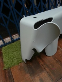 Front View of the Elephant Stool