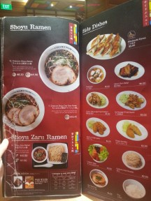 More Ramen and Side Dishes Menu