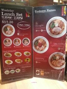 Lunch Set and Tonkotsu Ramen Menu