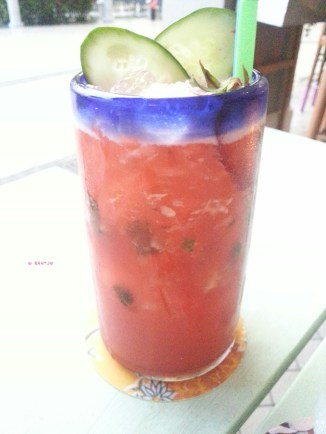 Strawberry with Cucumber Slice Non-alcoholic Drink