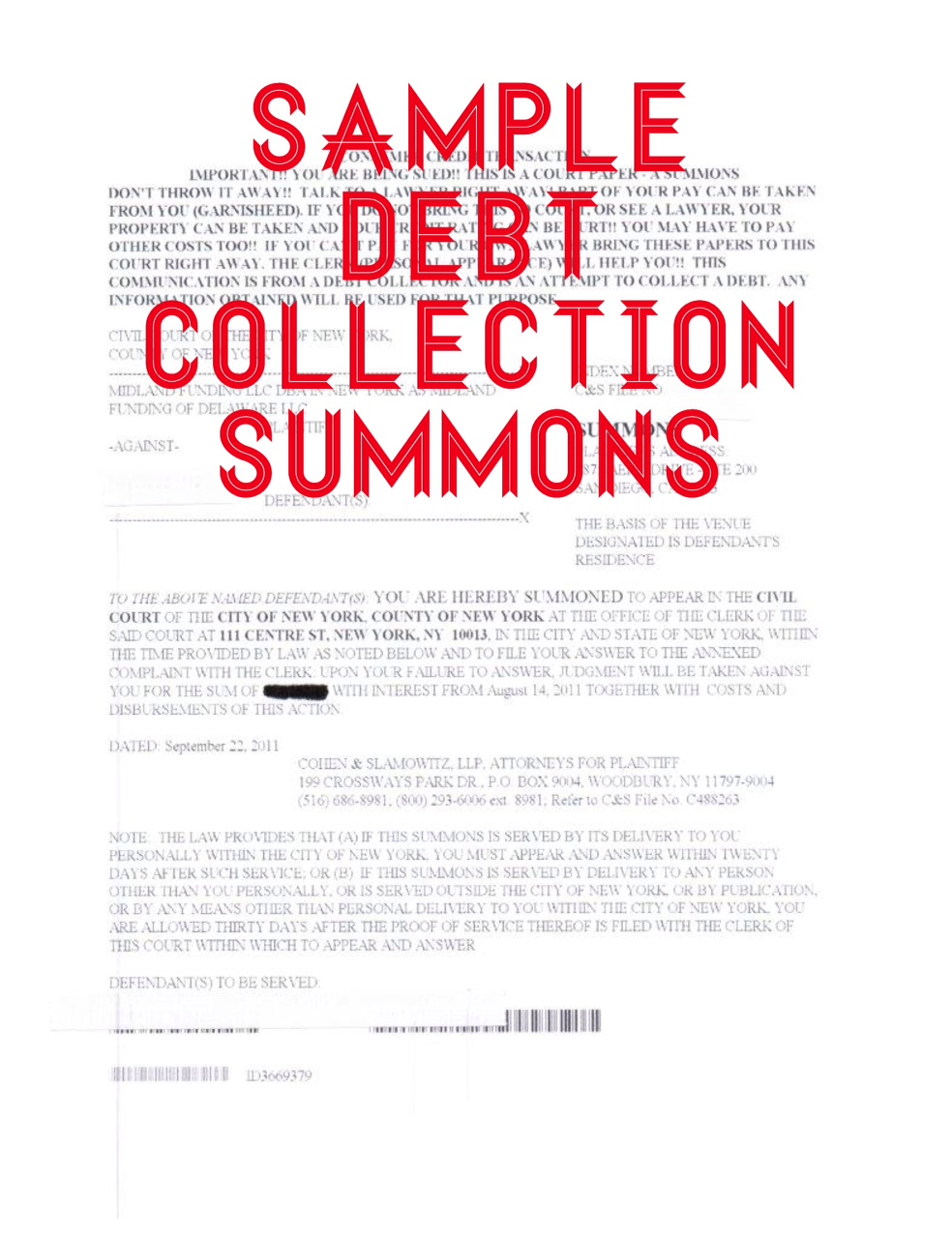 How To Answer A Summons And Complaint In A Debt Collection Lawsuit