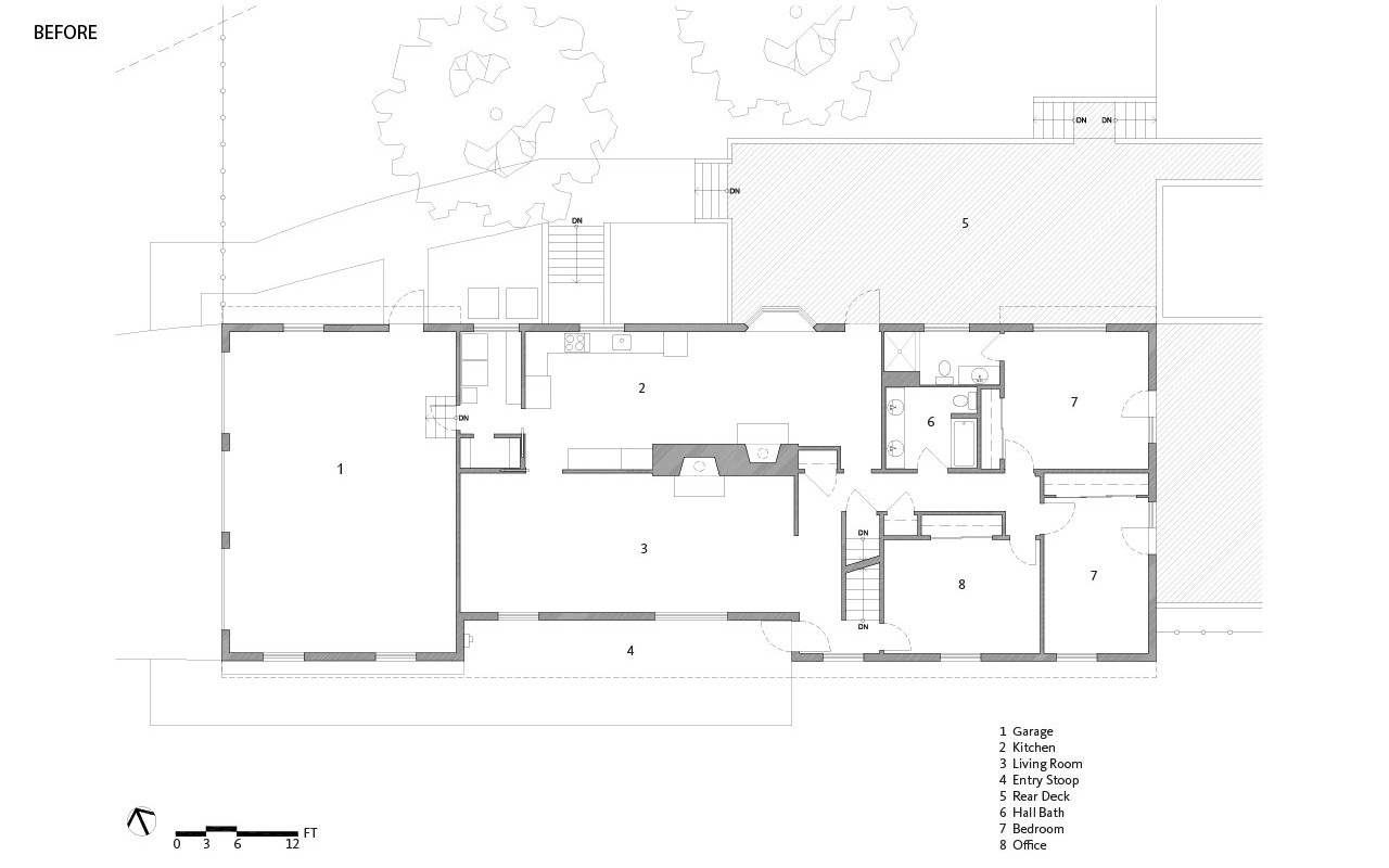 Cross House | Floor Plan Before