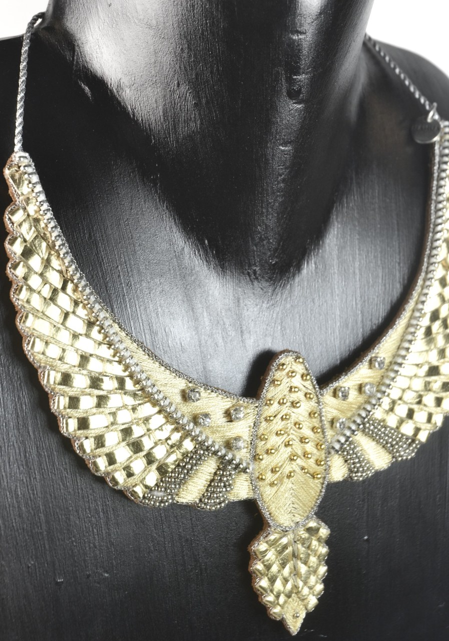 Plastron rock Codie | Gold | Photo 1