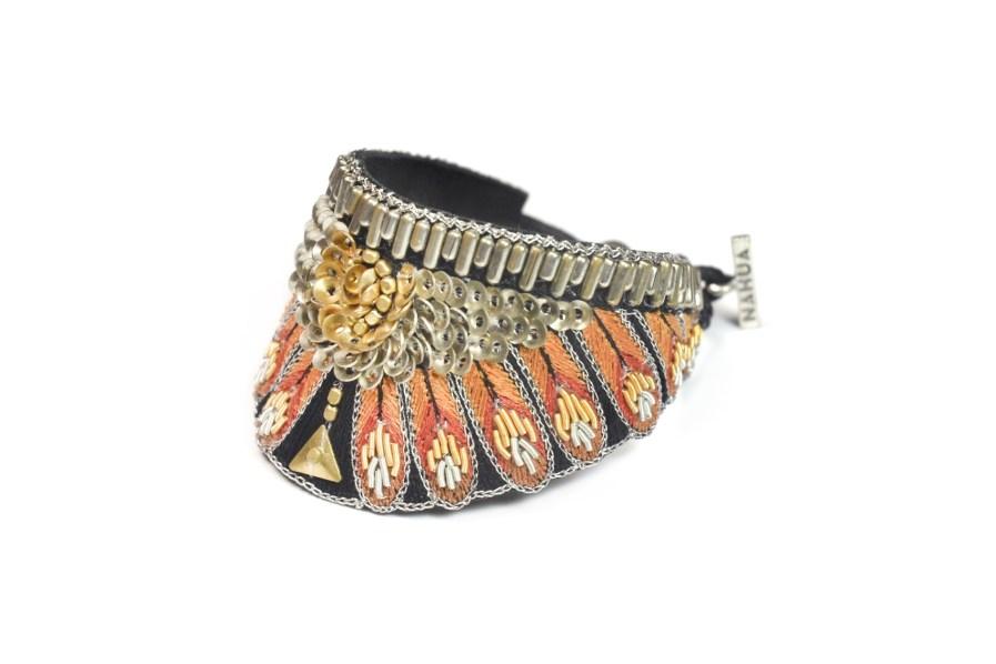Bracelet ethnique Nita   Orange   Photo 2