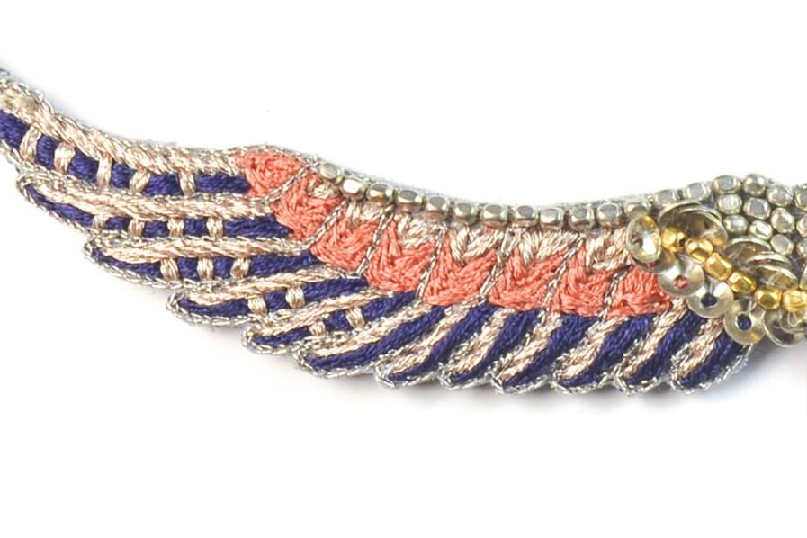 Bracelet bohème Shaila | Blue/Apricot | Photo 1