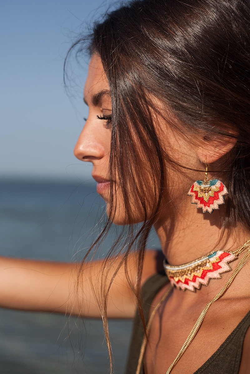 Boucles d'oreilles ethniques Madi | Klein | Photo 3