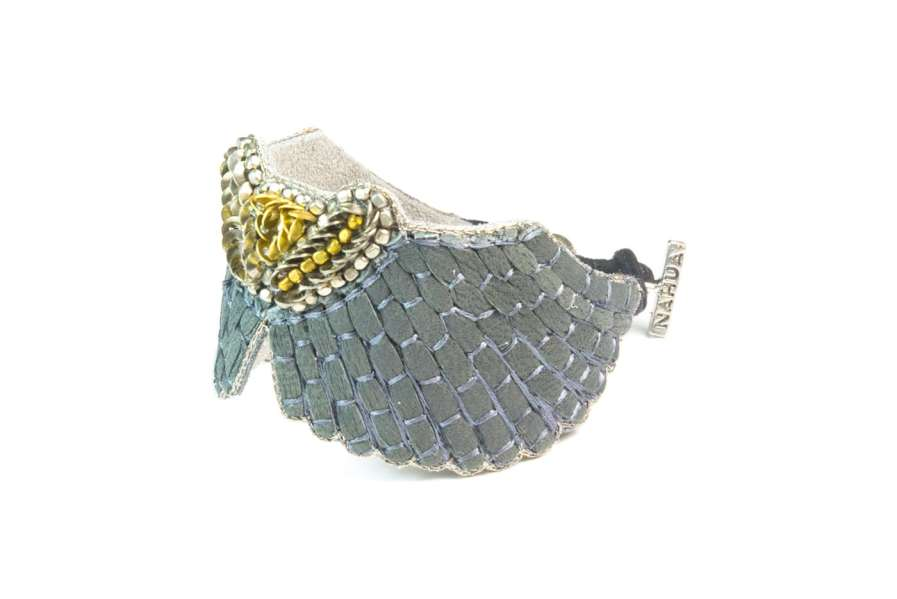 Bracelet cuir Angy | Grey | Photo 2