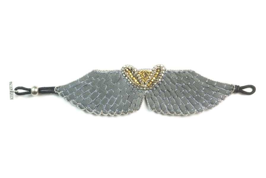 Bracelet cuir Angy | Grey | Photo 3