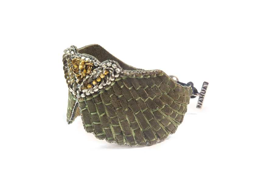 Bracelet cuir Angy | Military | Photo 2