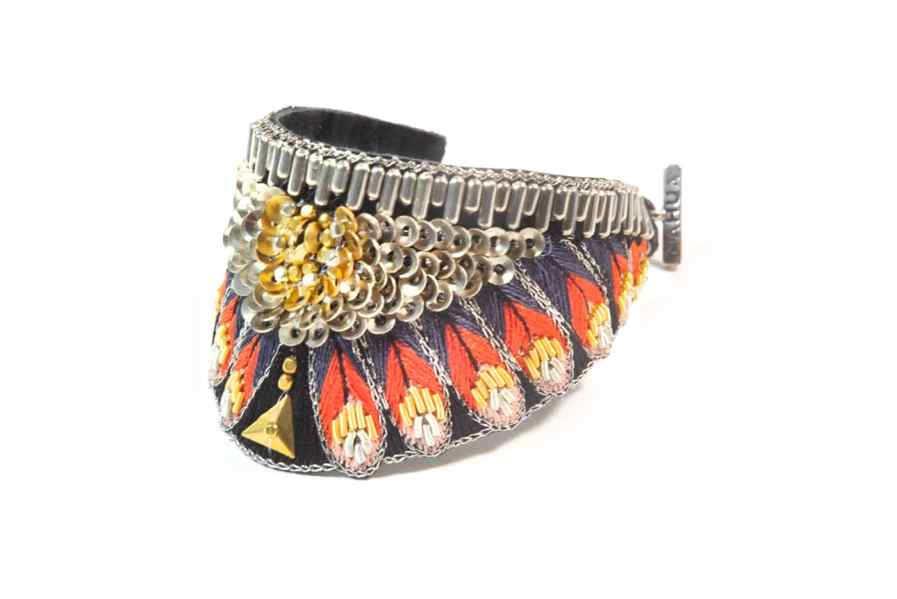 Nita ethnic bracelet - Coral | Photo 2