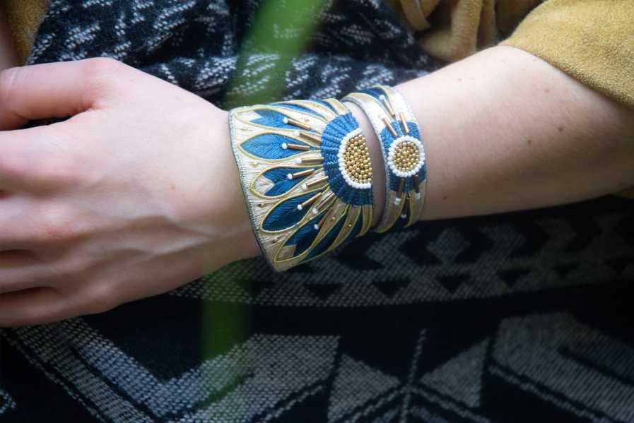 Bracelet ethnique Apache   Duck/Mastic   Photo 1