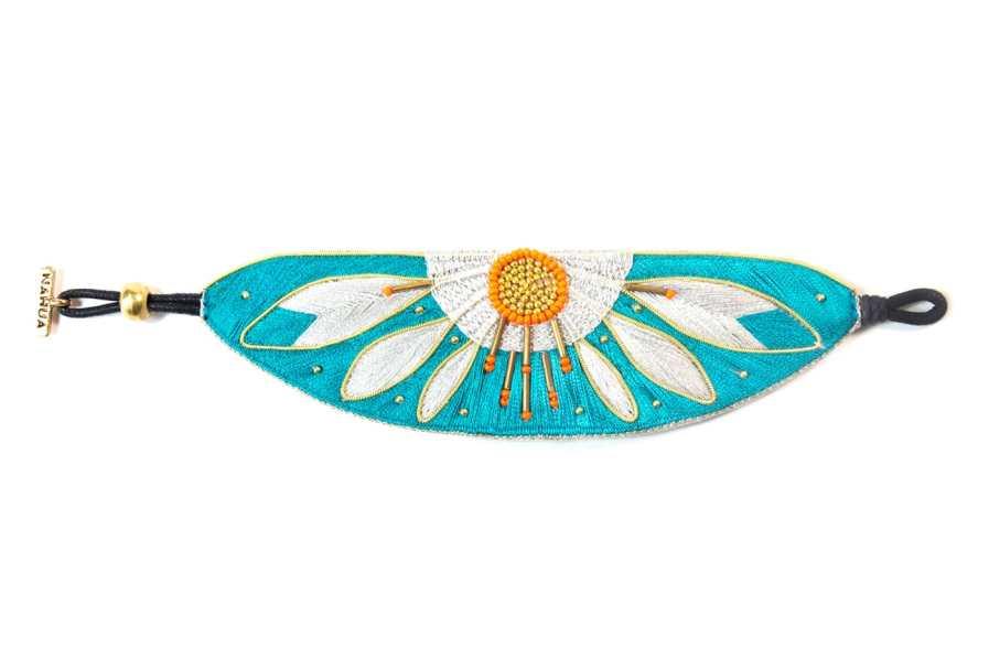 Bracelet ethnique Apauline | Green/Argile | Photo 1