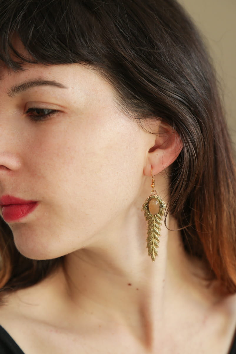 Boucles d'oreilles chic Lorie | Gold | Photo 1