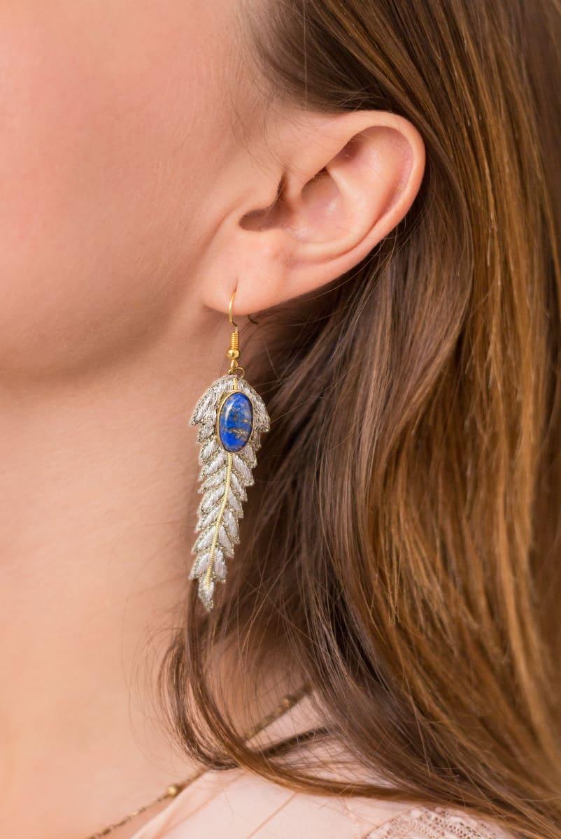 Boucles d'oreilles chic Lorie | Silver | Photo 1