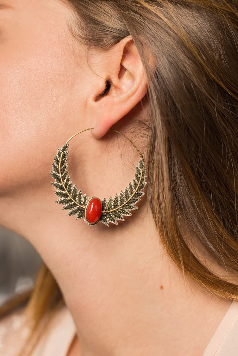Boucles d'oreilles créoles Lorna | Gold | Photo 3