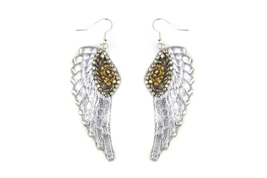 Boucles d'oreilles rock Anita | Silver | Photo 2