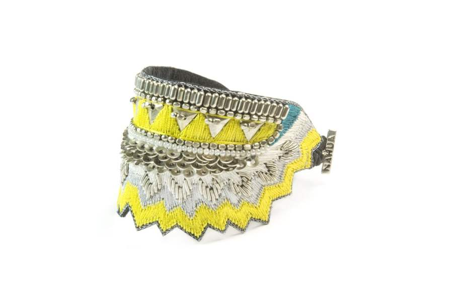 Bracelet ethnique Maheswari | Sunny/Yellow | Photo 2