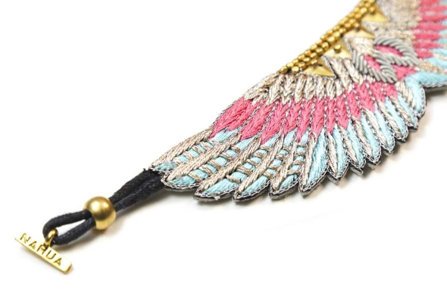Bracelet bohème Shakti | Pink/Turquoise | Photo 3