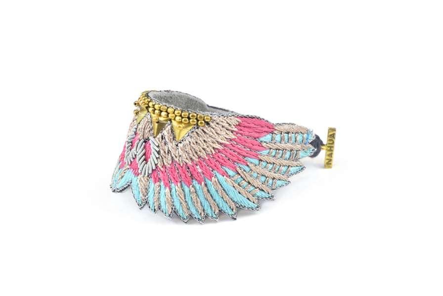 Bracelet bohème Shakti | Pink/Turquoise | Photo 2