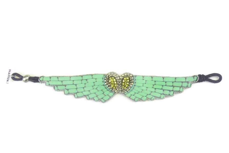 Bracelet cuir Ange | Turquoise | Photo 3